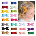 Selling solid color double-layered baby 22 color bow hairpin 2017 new European and American children's hair accessories