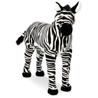 12 inches standing stuffed plush zebra horse animal toys