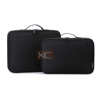 Buy direct from china factory small Nylon black man cosmetic bag, travel cosmetic bag for men