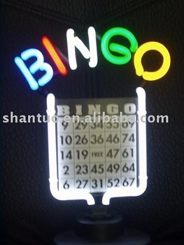 Bingo neon sculpture