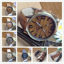 Customize logo 2015 charming natural wholesale wood watch vogue wrist wood watch for men and women with