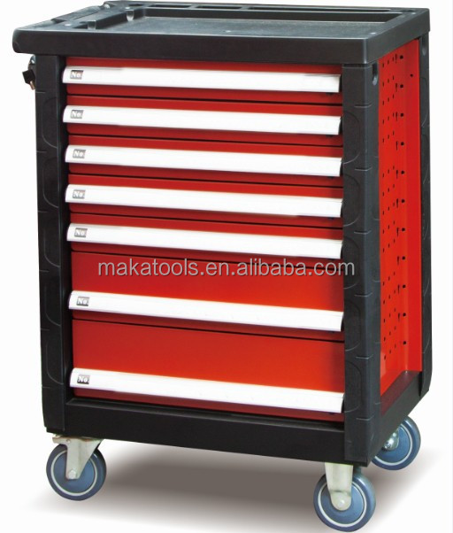 220pcs tool trolley cabinet with 7drawer mechanical workshop hand tool