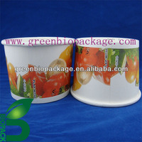 biodegradable PLA paper salad container