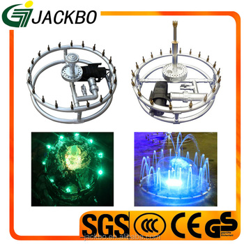 Factory direct supply high quality round garden design water fountain with RGB light
