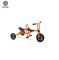 Promotion fantastic cheapest three wheel and two seats kids bicycle