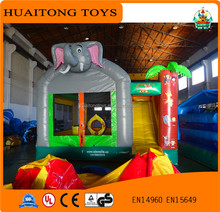 exquisite elephant shape inflatable bouncer house air bouncer with slide