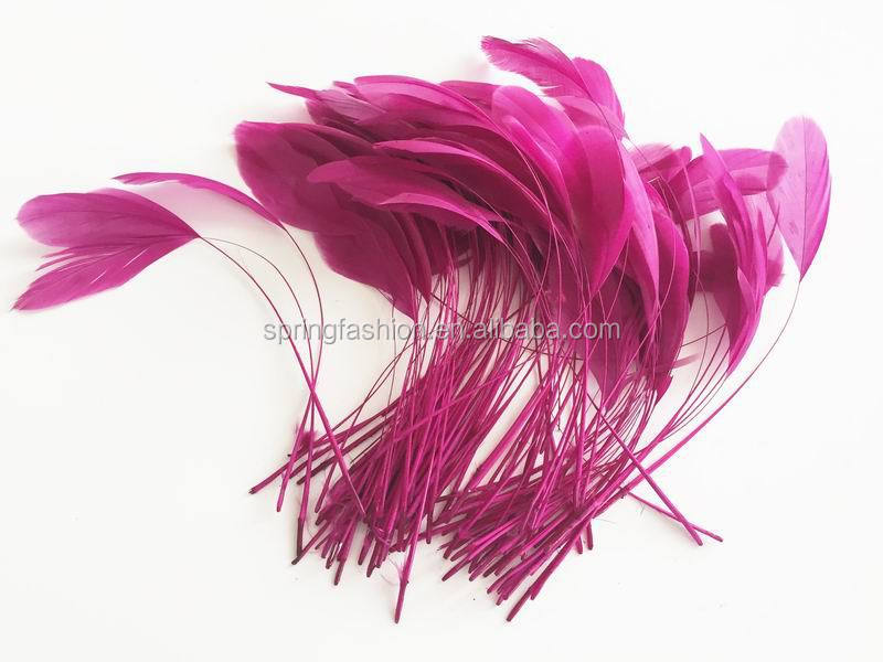 Fuschia rooster feather,millinery feathers,feather decoration in size 6-8''