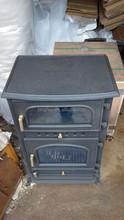 cast iron wood stove oven