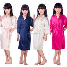 Hot Sale Silk Kid Robe Kimono Sleepwear Children Bathrobe