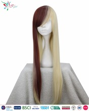 Styler Brand straight wig blonde long straight brown wig cosplay with bangs