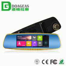 car DVR rear view mirror 4.3 inch 4GB GOOGLE map gps navigation mirror Bluetooth smart rear view mirror