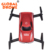 Global Drone Foldable Selfie Drone GW186 Dron Red Design Mini Drone HD Camera Headless / 3D Roll WIFI Fpv Best Gifts for Kids