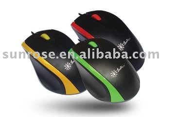 Plastic mouse computer usb optical mouse wired gaming mouse with CE certificate
