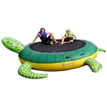 Turtle shape orbit inflatable water trampoline