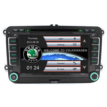"Free Ship 7"" 2 Din Car DVD GPS Player for VW Seat Skoda Fabia Roomster Superb Octavia Yeti 2006 2007 2008 2009 2010 2011 2012"