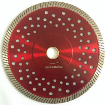 Universal Application Turbo Continuous Rim Diamond Saw Blade for Stone, Concrete, Masonry