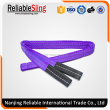 Flat eye eye webbing rigging lifting slings safety factor 6 times