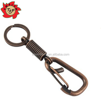 Copper Tone Metal Detachable Carabiner Clip Key Chain Keyring