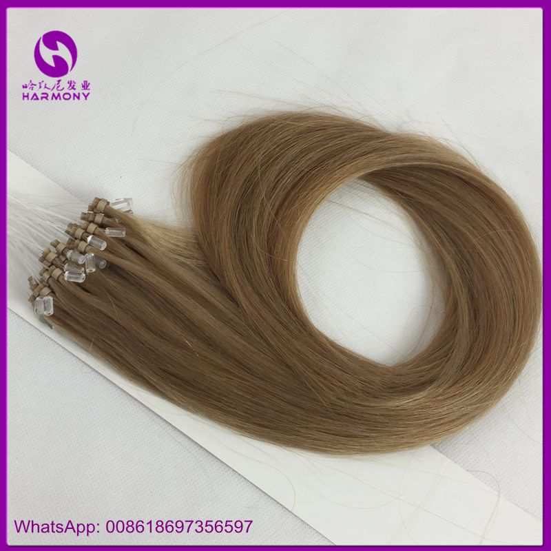 Best quality 100% virgin remy human brazilian micro ring loop hair extensions