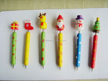 series of christmas gifts wooden cartoon ballpoint pens