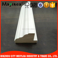 Chinese high quality home decorative white primed MDF wood moulding