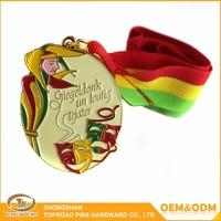 High quality custom different types/color sports custom award metal medal