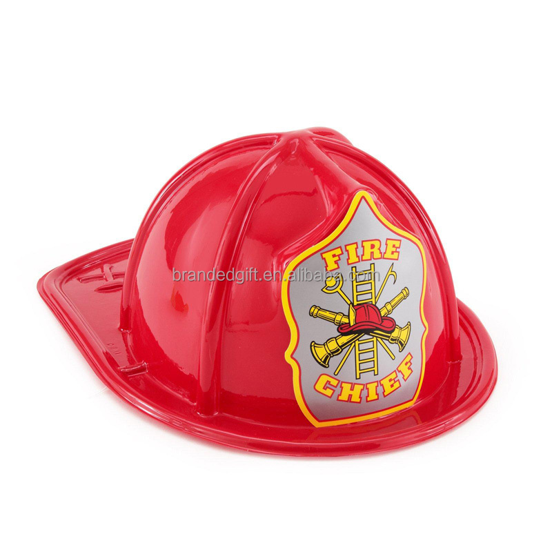 Children Plastic Fire Fighter Helmets with custom print