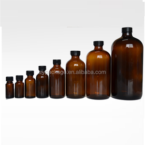 1/2oz 1oz 2oz 4oz 8oz 16oz 32oz amber green blue clear boston round glass bottle