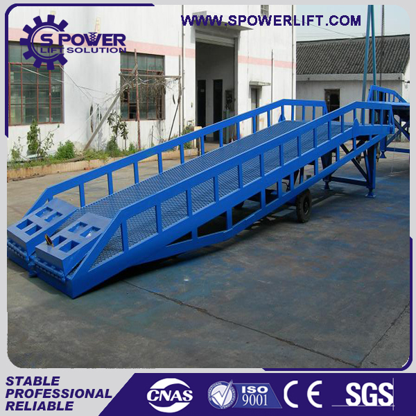 Hot sale 5-15t container loading mobile hydraulic yard ramp
