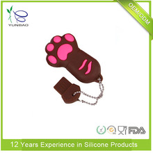 Custom cartoon animal sIlicone USB disk cover