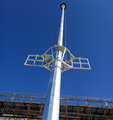 30m high mast lighting poles
