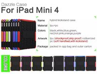 Manfacturer Wholeselling Heavy Duty Hybrid Case Impact Rugged Silicone PC Armor Cover Case For iPad mini 4