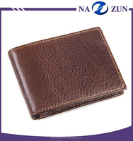 Factory Genuine Leather Customized fashion designer wholesale wallet men