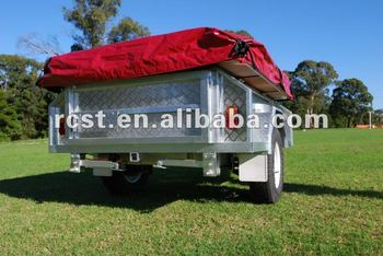 hot dipped galvanized steel camping tent trailer
