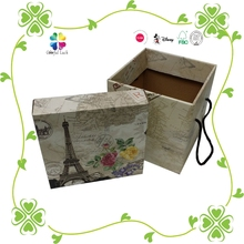 Folding Corrugated Carton Gift box with handle Lid and bottom Packaging Box Custom Printed Corrugated Mailing Shipping Boxes
