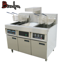 Restaurant And Hotel Project Kitchen Equipment Tools Combination Products With Fryer And Chip Dump