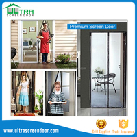 Instant snaps close garag sliding screen door