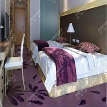 Implicative and warm striped wall to wall purple carpet for hotel room