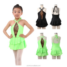 Shiny Lycra Ballroom Dresses for Children