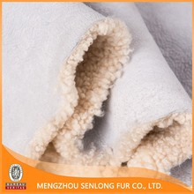 Genuine lamb fur lining and sheep hide for sale