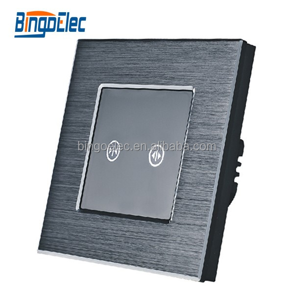 Euro type aluminium panel black color power window wall switch