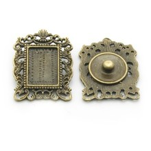 Elegant zinc alloy metal square snap button jewelry