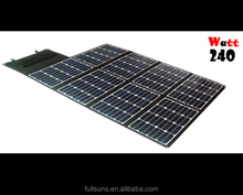 solar panel mobile charger assembly line transparent thin film solar panel 240W
