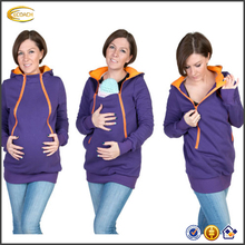 Ecoach 4 in 1 Maternity Pregnancy hoodie Multifunctional Nursing Breastfeeding clothes long sleeve winter mom and baby clothes