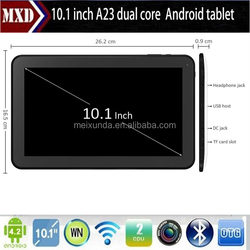 Android portable Allwinner A23 Dual Core smart pad tablet pc 11 inch