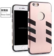 2 in1 Brushed Aluminium+TPU Shockproof Antiskid Case for iPhone 7