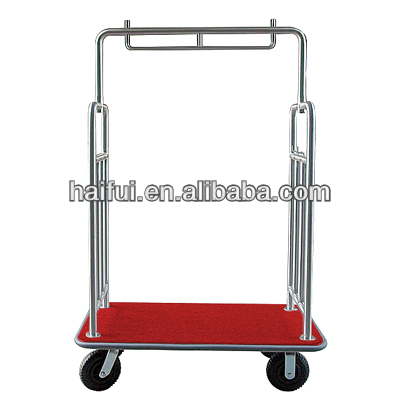 Hotel bellman's luggage trolley