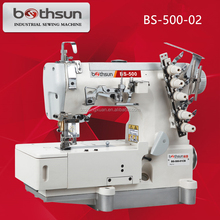 PEGASUS MODEL BS-500-02 HIGH-SPEED FLAT-BED INTERLOCK INDUSTRIAL SEWING MACHINE FOR COVER SEWING
