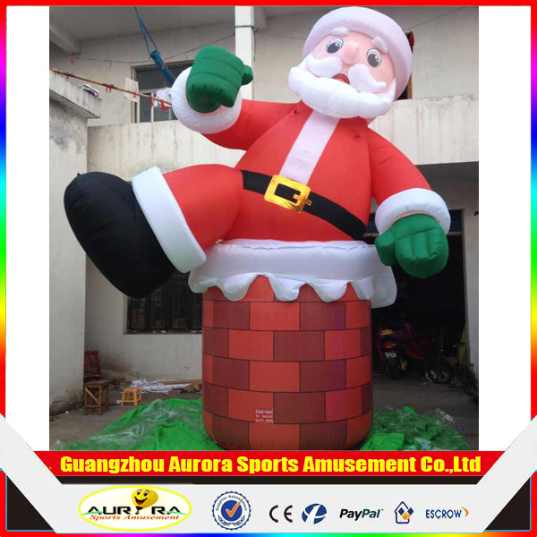 inflatable christmas cartoon, inflatable santa for advertising