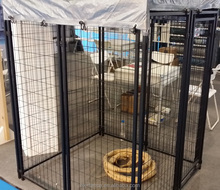 5x6x10 feet heavy duty black powder coated + galvanized steel welded wire mesh dog kennel (Anping pet product expert)